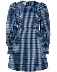 Baum und Pferdgarten Aidine Puff Sleeve Mini Dress - Blue