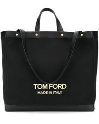 Tom Ford T Screw ハンドバッグ - ブラック