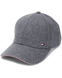 Tommy Hilfiger Contrast Piped Baseball Cap - Gray