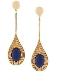 Aurelie Bidermann Sophia Clip On Earrings - ブルー