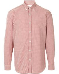 Gieves & Hawkes Check button-down shirt - Rouge