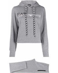EA7 Logo-print Tracksuit Set - Grey