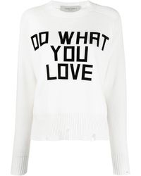 Golden Goose Deluxe Brand Do What You Love プルオーバー - ホワイト