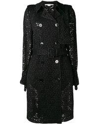Stella McCartney Lace trench coat - Noir