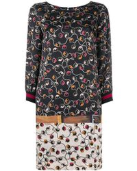 Clips - Printed Loose Dress - Lyst