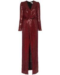 Galvan London - Vera Sequin And Silk Maxi Dress - Lyst