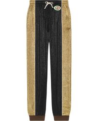 Gucci Crêpe Lurex Harem Style Pant - Black