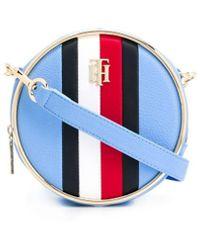 Tommy Hilfiger Statement Circle ロゴ ショルダーバッグ - ブルー