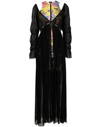 Just Cavalli レイヤード ロングドレス - ブラック