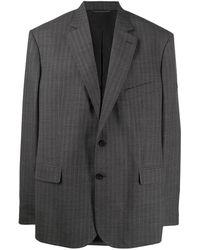 Balenciaga Пиджак В Тонкую Полоску - Серый