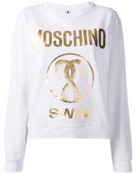 Moschino Swim Logo Sweatshirt - White