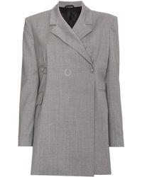 1017 ALYX 9SM Grey Double Breasted Jacket - Grijs