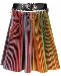 Chopova Lowena Belted Pleated Skirt - Green