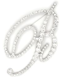 Blumarine クリスタル ロゴ ブローチ - メタリック