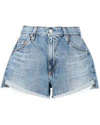 AG Jeans Shorts denim taglio comodo - Blu