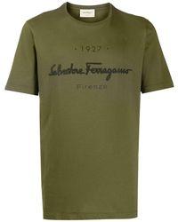 Ferragamo Logo-print Slim-fit T-shirt - Зеленый
