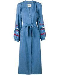Bazar Deluxe Belted Denim Shirt Dress - Blue