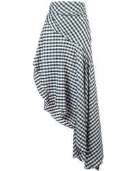 Monse - Checked Asymmetric Skirt - Lyst