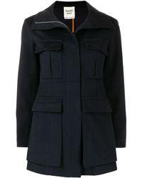 Hermès Короткое Однобортное Пальто - Синий