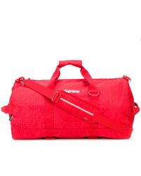 Supreme Logo Patch Duffle Bag - Red