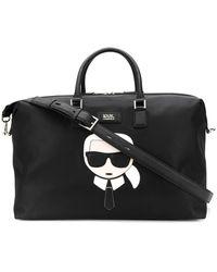 Karl Lagerfeld K/ikonik ボストンバッグ - ブラック