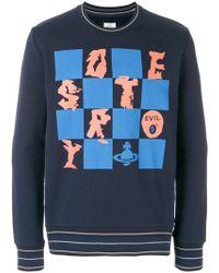 Vivienne Westwood Anglomania - Check Print Sweatshirt - Lyst