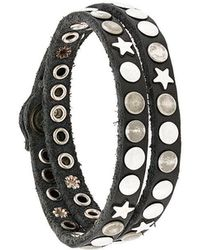 HTC Hollywood Trading Company - Bracciale Con Borchie - Lyst