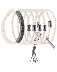 Camila Klein - Pearl Bracelets Set - Lyst
