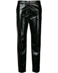 Mantu - Wet Look Cropped Trousers - Lyst