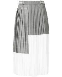Gauchère - Colour Block Pleated Midi Skirt - Lyst