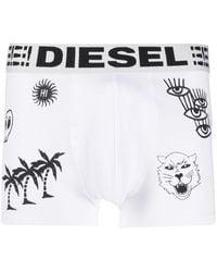 DIESEL Shorts mit Illustrations-Print - Weiß