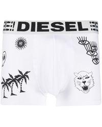 DIESEL Boxer con stampa - Bianco
