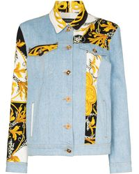 Versace - Джинсовая Куртка С Принтом Baroque - Lyst