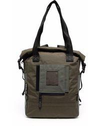 DIESEL Patch-detail Zip-up Tote Bag - Green