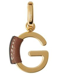 Burberry Leather-wrapped 'g' Alphabet Charm - Metallic