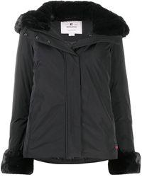 Woolrich エコファートリム パデッドジャケット - ブラック