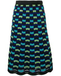 M Missoni - Knitted Wave Skirt - Lyst