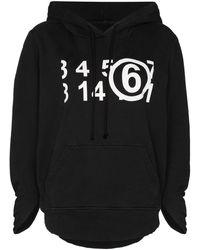 MM6 by Maison Martin Margiela Худи С Логотипом Numerical - Серый