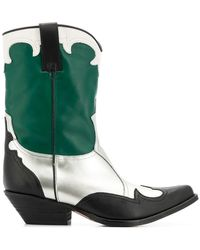 Emporio Armani - Pointed Campero Boots - Lyst