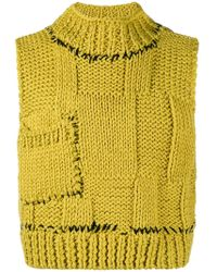 Raf Simons | Cropped Knitted Sweater Vest | Lyst