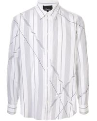 3.1 Phillip Lim Striped Patchwork Shirt - White