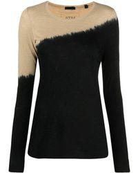 ATM バイカラー ロングtシャツ - ブラック