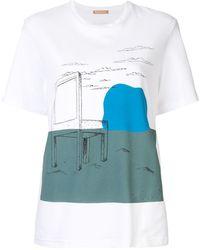 Nehera Galanda Chair Print T-shirt - White