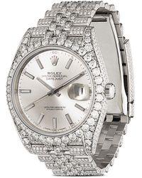 Rolex Pre-owned Datejust 41 Jubilee Horloge - Metallic