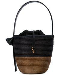 Cesta Collective Woven Bucket Bag - Blue