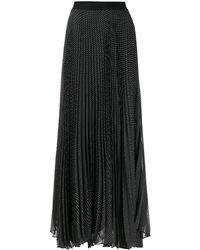 Alice + Olivia Polka Dot Pleated Skirt - Black