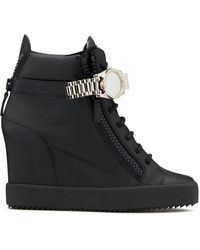 Giuseppe Zanotti Sneakers Met Sleehak - Zwart