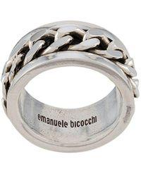 Emanuele Bicocchi Кольцо Band - Металлик