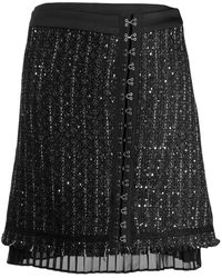 Karl Lagerfeld Falda brillante - Negro