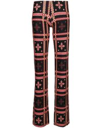 Fisico - Floral Print Trousers - Lyst